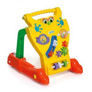 Andador Feliz Brinquedo Educativo Infantil Amarelo Bebê Calesita Tateti