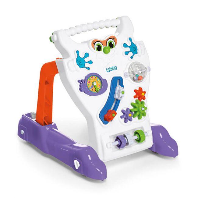 Andador Feliz Brinquedo Educativo Infantil Branco Bebê Calesita Tateti