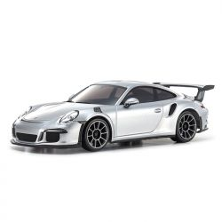 Automodelo Kyosho 1:27 Rc Ep Mini-Z Racer Sports2 Mr-03 Porsche 911 Gt3 Rs Prata Rádio Kt19