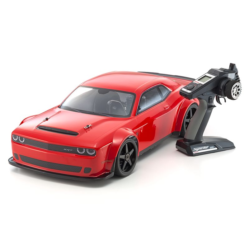 Automodelo Kyosho 1:8 Rc Ep Inferno Gt2 Race Spec 4x4 Brushless Dodge Challenger SRT Demon 2018