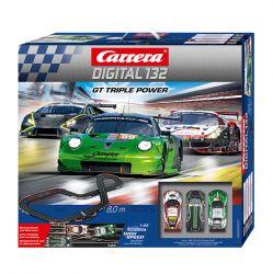 Autorama Carrera Digital com 3 Carros Pista Gt Triple Power 8 metros 1:32 - Carrera