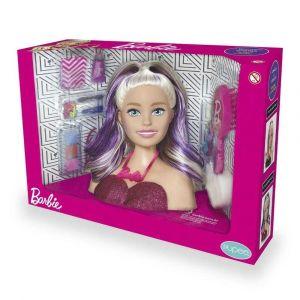 Barbie Busto Boneca para Brincar de Cabeleireiro Maquiar Pupee