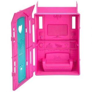 Barbie Studio de Surf Boneca Loira Vestido Rosa Fun