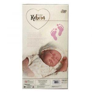 Bebê Reborn Boneca Real Menina olho Fechado Baby Brink