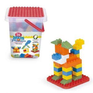 Blocos de Montar Brinquedo Educativo 84 Peças Monte Líbano