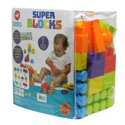 Blocos de Montar Super Blocks 97 Peças - Calesita