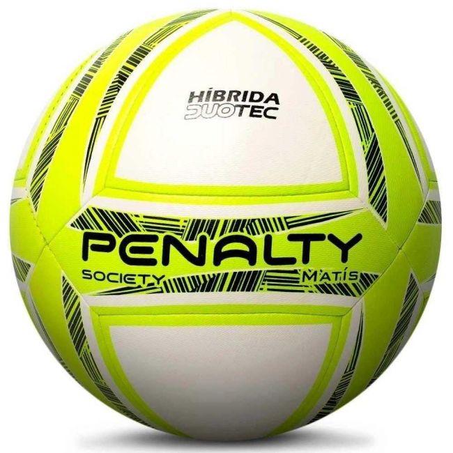 Bola de Futebol Society Matís Híbrida Duotec Amarela Penalty