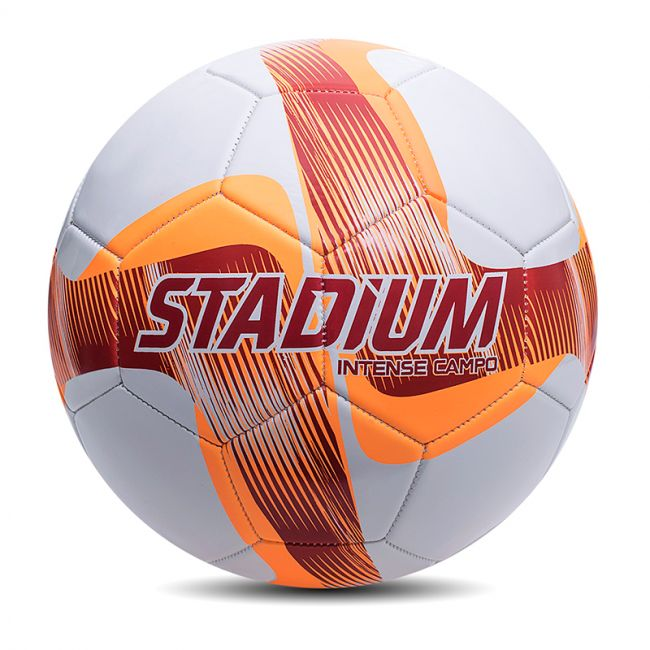 Bola Futebol de Campo Oficial Stadium Intense Branca e Laranja