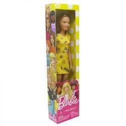 Boneca Barbie Fashion Básica Coleção Vestido Amarela Mattel