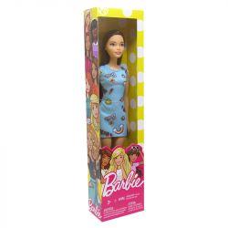 Boneca Barbie Fashion Básica Coleção Vestido Azul Mattel
