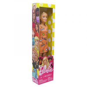 Boneca Barbie Fashion Básica Coleção Vestido Laranja Mattel