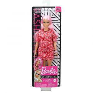 Boneca Barbie Fashionistas Cabelo Rosa 151 Mattel