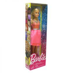 Boneca Barbie Glitter Vestido Rosa Cinto Azul Mattel