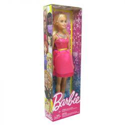 Boneca Barbie Glitter Vestido Rosa Cinto Verde Mattel