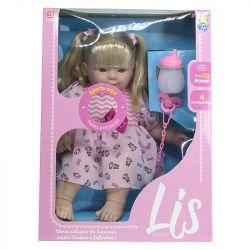Boneca Bebê Lis Que Fala Estilo Reborn Com Cabelo Divertoys