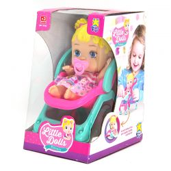 Boneca Bebê Little Dolls Alive Passeio 19cm Divertoys