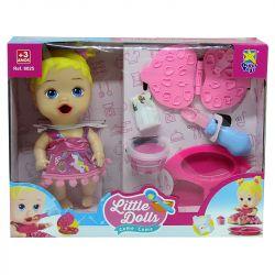 Boneca Bebê Little Dolls Come Come E Faz Caquinha Divertoys