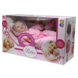 Boneca Bebê Real Lacinho Coleção Fala E Chora Divertoys B