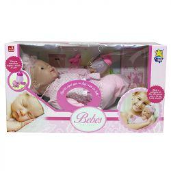 Boneca Bebê Real Lacinho Coleção Fala E Chora A Divertoys