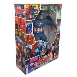 Boneco Capitão América Comics Marvel 45 cm Articulado Mimo