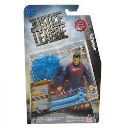 Boneco Super Homen Liga Da Justiça Articulado 15 cm Acessório Azul Mattel