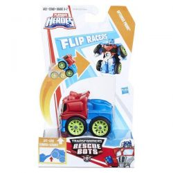 Boneco Transformável Optimus Prime Transformers Rescue Bots Flip Racer