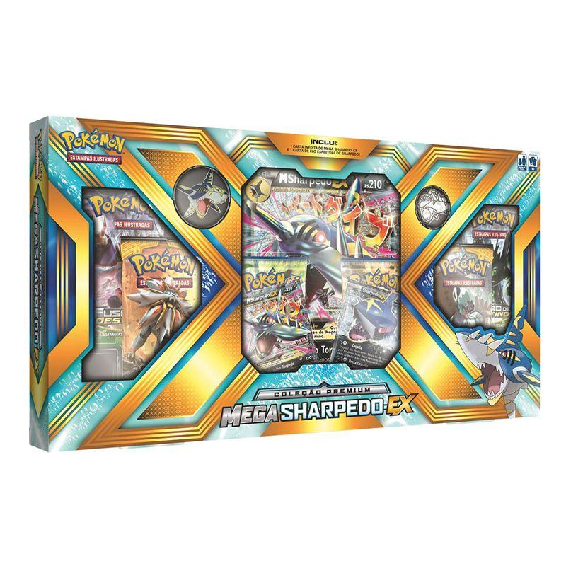 Box Pokemon MSharpedo Ex Sol e Lua Sombras Ardentes - Copag