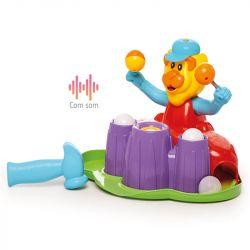 Brinquedo Bate Bate Com Som Colorido Leão Calesita