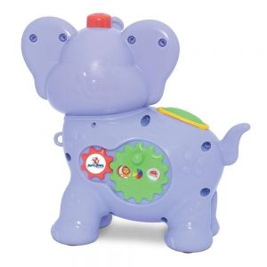 Brinquedo Educativo Amiguinho Comilão Elefante Roxo Mercotoys