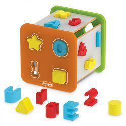 Brinquedo Educativo Cubo Didático em Madeira - Junges
