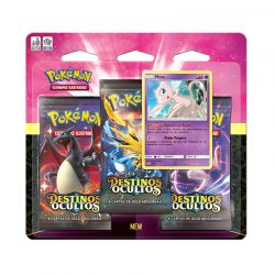 Cards Pokémon Triple Pack Destinos Ocultos Mew - Copag