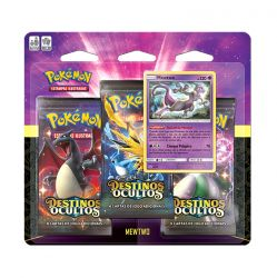 Cards Pokémon Triple Pack Destinos Ocultos Mewtwo - Copag