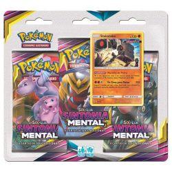 Cards Pokémon Triple Pack Stakataka Sol e Lua 11 Sintonia Mental - Copag