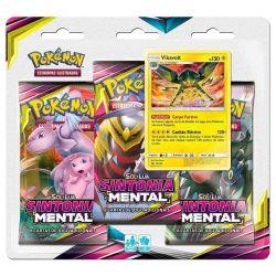 Cards Pokémon Triple Pack Vikavolt Sol e Lua 11 Sintonia Mental - Copag