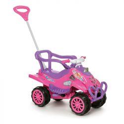 Carrinho De Passeio Infantil Cross Turbo Empurrar Pedal Rosa Calesita