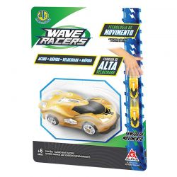 Carrinho Wave Racers Blister Dtc Rival Amarelo