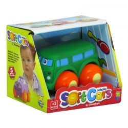 Carros Soft Cars Kombi Verde Divertoys