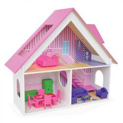 Casa Casinha de Bonecas em Madeira Polly Sweet Home - Junges