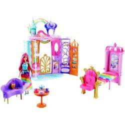 Casa da Barbie Playset Castelo de Arco-íris Barbies Mattel