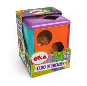 Cubo Didático Colorido com Blocos de Encaixar Elka