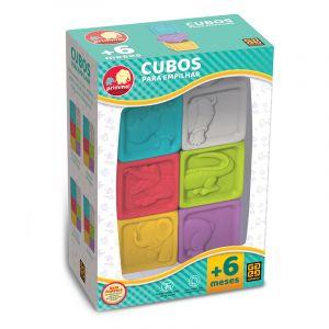 Mordedor Cubos para Empilhar Pedagógico Educativo Grow