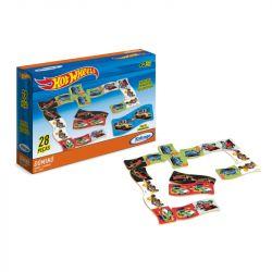 Dominó Educativo Hot Wheels Brinquedo Infantil 28 Peças - Xalingo