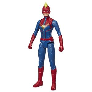 Figura de Ação Capitã Marvel Vingadores Marvel Titan Hero Blast Gear Hasbro