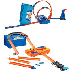 Hot Wheels Track Builder Kit de Looping Azul Flk89 Mattel