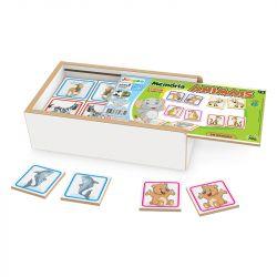 Jogo Memória Animais Estojo Brinquedo Educativo - Junges