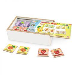 Jogo Memória Frutas Estojo Brinquedo Educativo Infantil - Junges