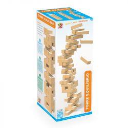 Jogo Torre Equilíbrio em Madeira Similar ao Jenga - Junges