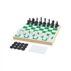 Jogo Xadrez e Damas Escolar Brinquedo Infantil - Junges