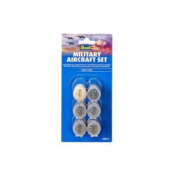Kit 6 Tintas Acrílicas Military Aircraft Revell