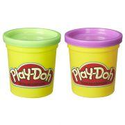 Kit Com 2 Potes Verde e Roxo Play Doh Hasbro